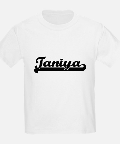 Taniya Classic Retro Name Design T-Shirt