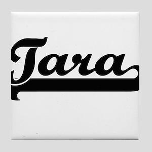 Tara Classic Retro Name Design Tile Coaster