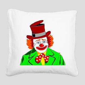 Clown Square Canvas Pillow