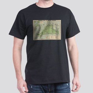 Vintage Map of Marthas Vineyard (1913) T-Shirt