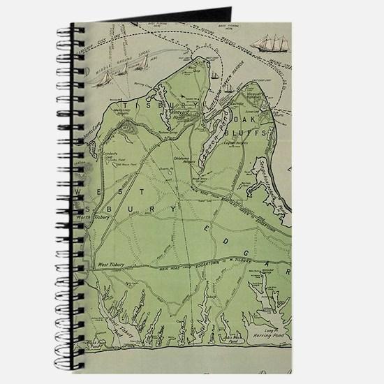 Vintage Map of Marthas Vineyard (1913) Journal