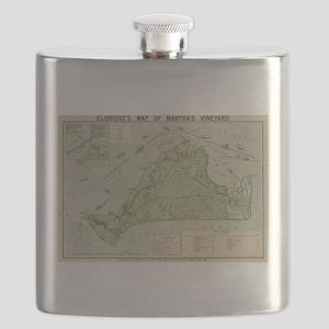 Vintage Map of Marthas Vineyard (1913) Flask
