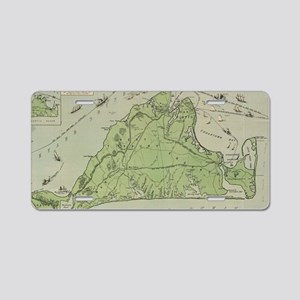 Vintage Map of Marthas Vine Aluminum License Plate