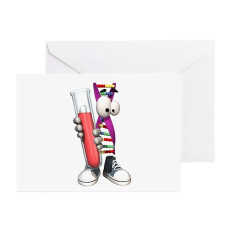 Funny DNA Testing DNA Strip Greeting Cards (Pk of