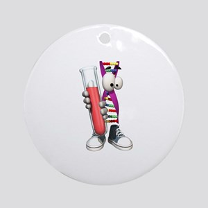 Funny DNA Testing DNA Strip Ornament (Round)