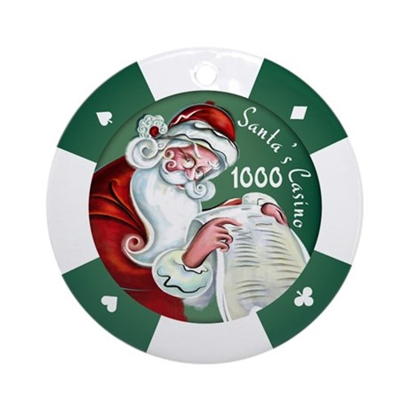 """Santa's Casino"" $1000 Chip Ornament"