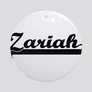 Zariah Classic Retro Name Design Ornament (Round)