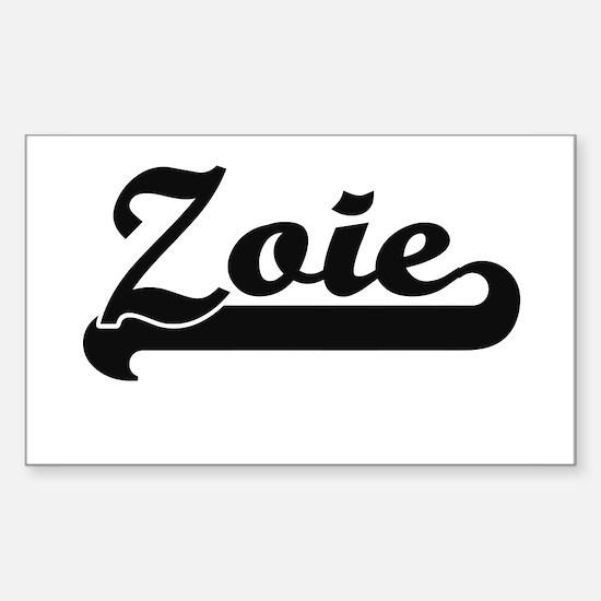 Zoie Classic Retro Name Design Decal