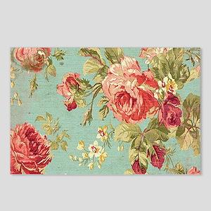 Beautiful Vintage rose fl Postcards (Package of 8)