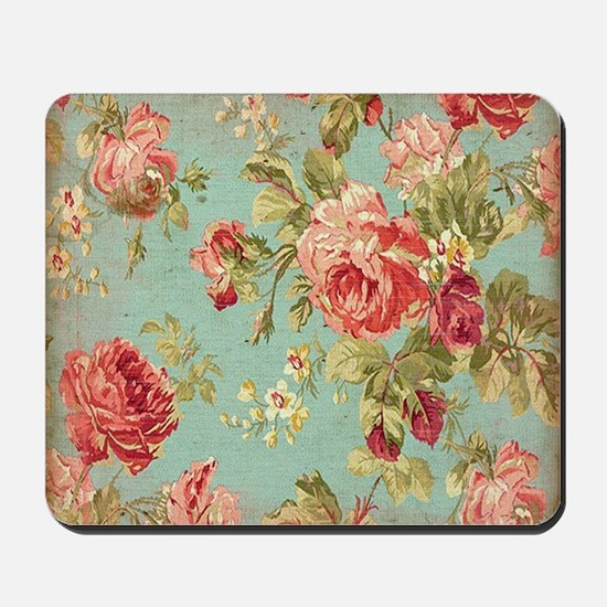 Beautiful Vintage rose floral Mousepad