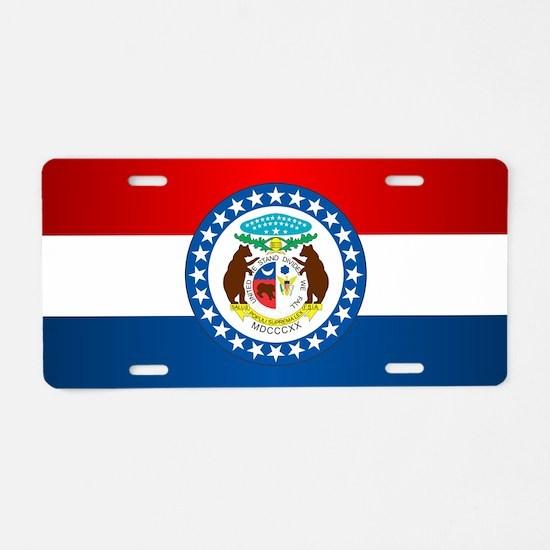Missouri Flag Aluminum License Plate