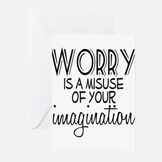 Worry Misuse Imagination Greeting Cards (Pk of 10)