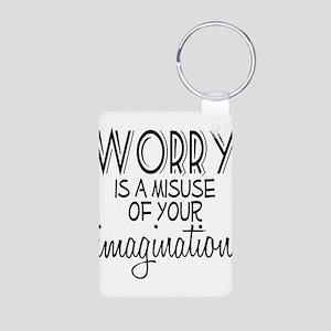 Worry Misuse Imagination Aluminum Photo Keychain