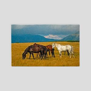 Horse Herd Area Rug