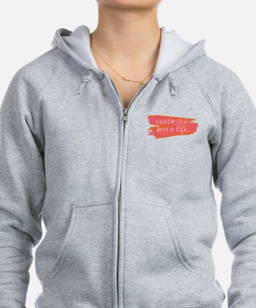 Brush Stroke - Fight the Itch. Zip Hoodie