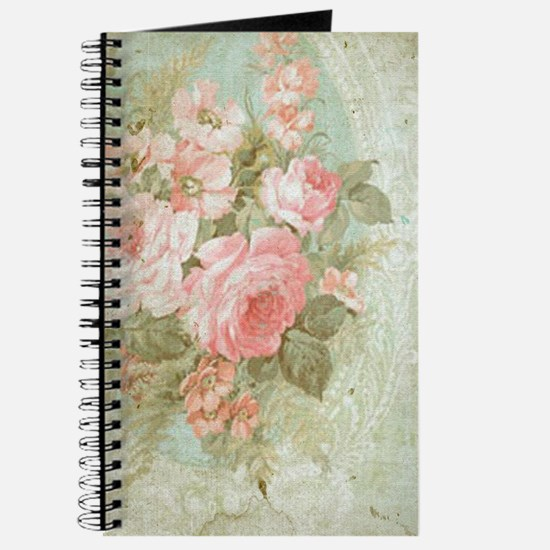 Chic vintage pink rose Journal