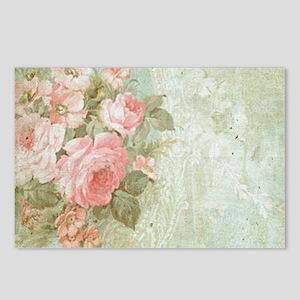 Chic vintage pink rose Postcards (Package of 8)