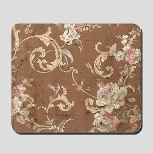 Beautiful Vintage brown floral Mousepad