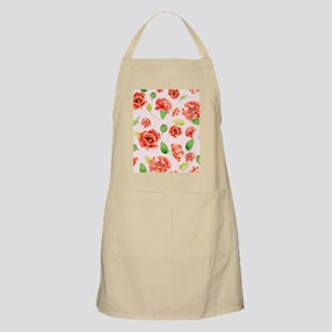 Watercolor Red Oreintal Poppy Apron