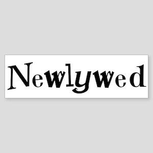Black Cool Text Newlywed Bumper Sticker