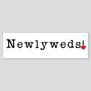 Black Text Newlyweds Bumper Sticker
