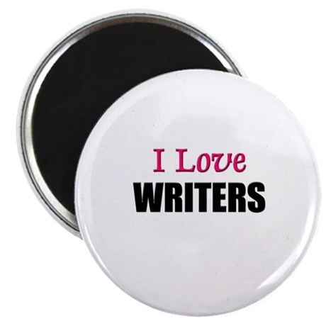 """I Love WRITERS 2.25"""" Magnet (10 pack)"""