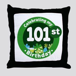 101st Birthday Throw Pillow