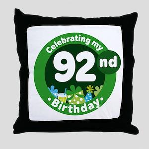 92nd Birthday Throw Pillow