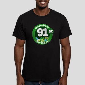 91st Birthday Men's Fitted T-Shirt (dark)
