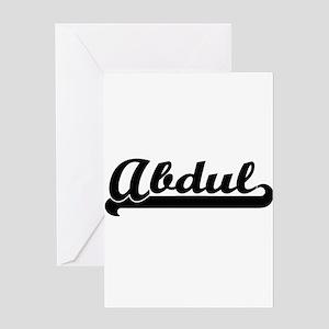 Abdul Classic Retro Name Design Greeting Cards