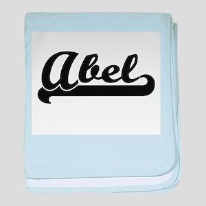 Abel Classic Retro Name Design baby blanket