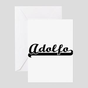 Adolfo Classic Retro Name Design Greeting Cards