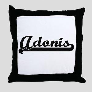 Adonis Classic Retro Name Design Throw Pillow