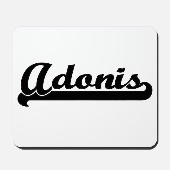 Adonis Classic Retro Name Design Mousepad