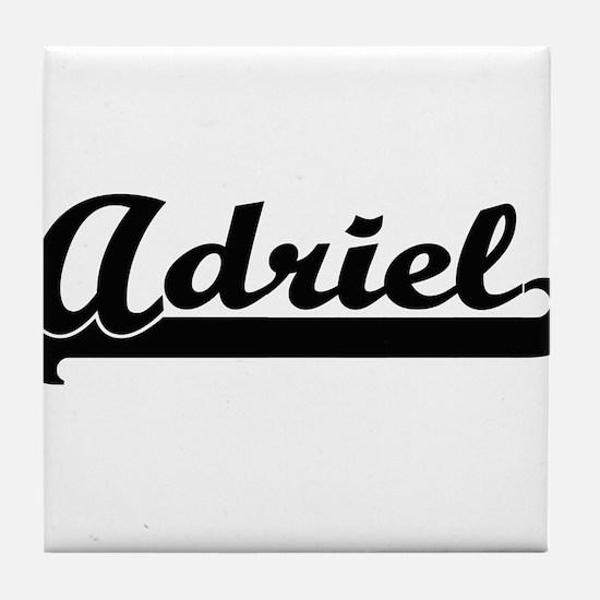 Adriel Classic Retro Name Design Tile Coaster