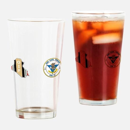 Uss carl vinson Drinking Glass