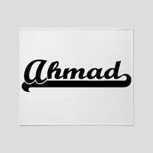 Ahmad Classic Retro Name Design Throw Blanket