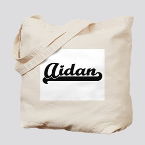 Aidan Classic Retro Name Design Tote Bag