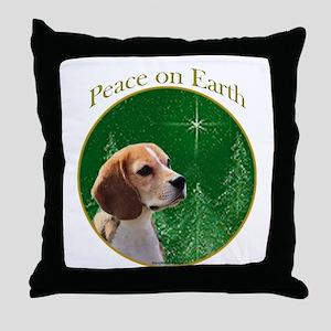 Beagle Peace Throw Pillow