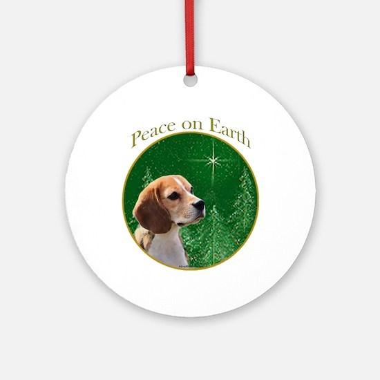 Beagle Peace Ornament (Round)
