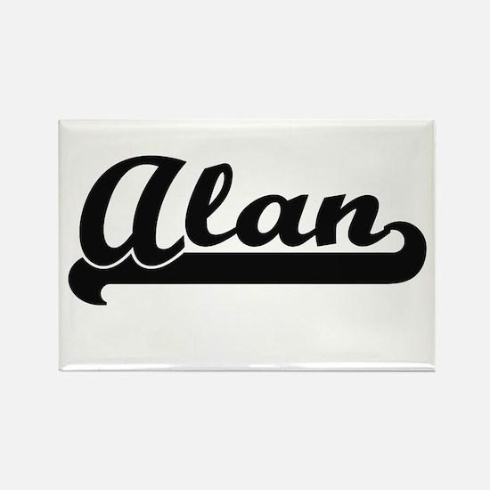 Alan Classic Retro Name Design Magnets