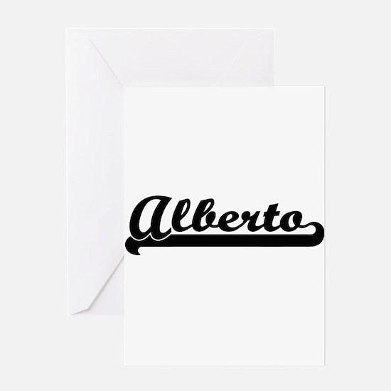 Alberto Classic Retro Name Design Greeting Cards