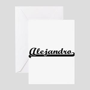 Alejandro Classic Retro Name Design Greeting Cards