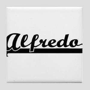 Alfredo Classic Retro Name Design Tile Coaster