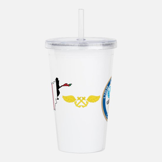 Unique Operation enduring freedom Acrylic Double-wall Tumbler