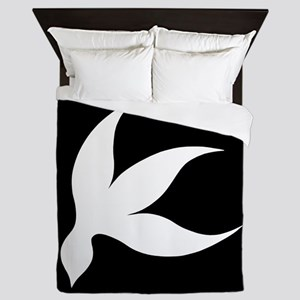 tropical white black rev Queen Duvet