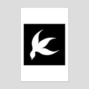 tropical white black rev Mini Poster Print