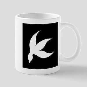tropical white black rev Mug