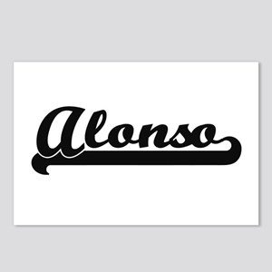 Alonso Classic Retro Name Postcards (Package of 8)
