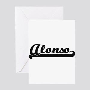 Alonso Classic Retro Name Design Greeting Cards